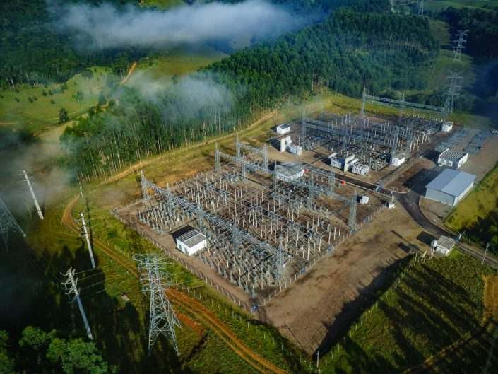 Aerial Electrical Substation